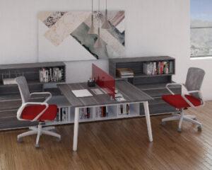 oficina rojo
