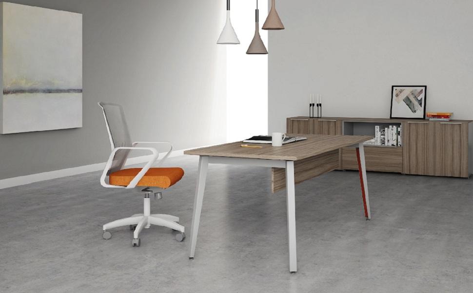escritorio de oficina en la ergonomía